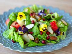 Tu B'Shevat Salad with Pomegranate Dressing