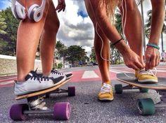 Skate around. Summer Surf, Summer Time, Summer Days, Longboard Design, Timeless Photography, Outdoor Girls, Skate Girl, Kodak Moment, Skate Style