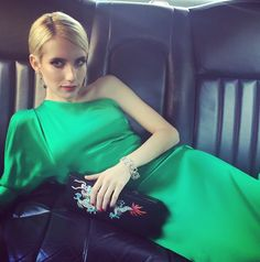 Look! Emma Roberts' Green Ralph Lauren Dress for the 2015 Met Gala Emma Roberts, Instagram Snap, Glamour, Vegan Fashion, Beauty Trends, Chic, World Of Fashion, Women's Fashion, Gowns