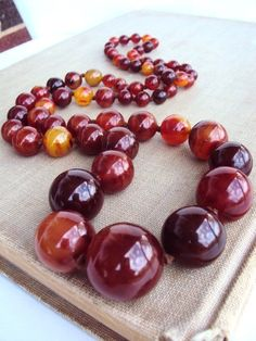 I love the fiery fall colours in this necklace reminds me of you mom #Bakelite