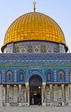 Dome of the Rock Front Detail Shot - Al-Quds (Jerusalem), Palestine… Palestine History, Palestine Art, Mosque Architecture, Art And Architecture, Islamic World, Islamic Art, Terra Santa, Islamic Wallpaper Hd, Dome Of The Rock