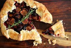 Fig and Plum Galette with Rosemary and Flaky Buttermilk Crust