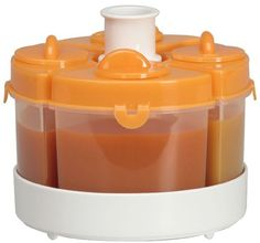 Baby Brezza Quatro Storage System - Orange - Cool Kitchen Gifts