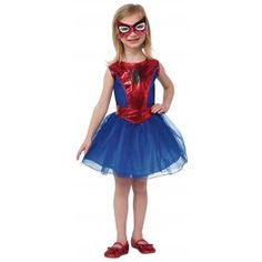 Disfraz de Spidergirl tutú para niña. Spiderman tutu costume for supergirls.
