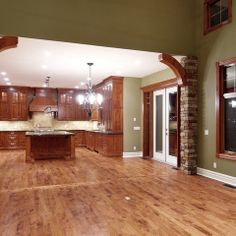 Mixing wood on pinterest oak trim white trim and honey for Combining stained and painted trim