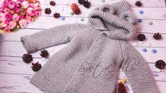 #2🚼 Baby COAT with hood ||KNITTING TUTORIAL||Пальто с КАПЮШОНОМ детское ...