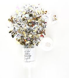 All That Glitters New Years Party Theme >> Push-Pop Confetti – Metallic Push Pop Confetti, Glitter Confetti, Bachelorette Party Supplies, Bachelorette Party Invitations, Invites, New Years Party Themes, Affordable Wedding Invitations, Photo Booth Props, All That Glitters