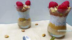 Recept makkelijk ontbijt met chiazaad, twee toetjes opgemaakt