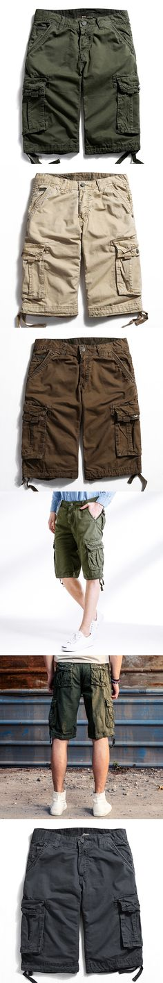 2017 Hot Summer Men's Army Cargo Work Casual Bermuda Shorts Men Fashion Joggers Overall military Trousers Plus size 40 NO belts