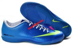 Nike Mercurial Vapor 9 IC Indoor Soccer Shoes - Royal Blue Green Pink Cheap Nike! $58.39