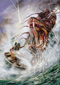 Thor versus the midgard serpent
