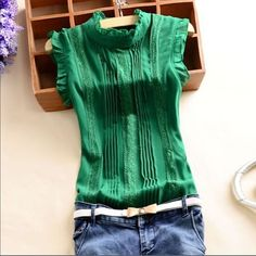 ✅New Green Blouse✅ Beautiful green Blouse , new !!! never worn ✅open to reasonable offers  Tops Blouses