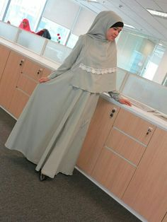#hijab syar'i #dress green+hijab syar'i Only Rp 499