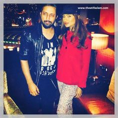 Atif Aslam with Saaba Zaman in Dubai, United Arab Emirates.