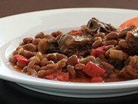 "Slow Cooker Beef and Beans: Pot Roast With Beans  -----  <b><a href=""http://southernfood.about.com/od/foodpictures/ss/Slow-Cooker-Beef-And-Beans.htm"">Large Photo of Beef and Beans</a></b>"