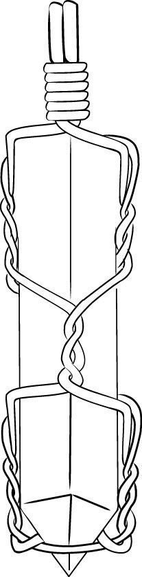 Create a bail by making a double-wrapped loop