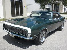 1968 Camaro <3 <3 <3 <3 Want SO BAD!!!!! <3 <3 <3 <3 One day I will get one!