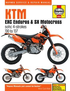 Haynes m2222 repair manual for 1986 07 honda cr80 cr125r cr250r haynes m4629 repair manual for 2000 07 ktm excmxc enduros and sx motocross fandeluxe Images