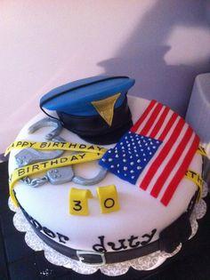 state trooper cakes - graduation cake idea