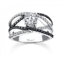 Black Diamond Engagement Ring - 7640LBK - Sale! Up to 75% OFF! Shot at Stylizio for women's and men's designer handbags, luxury sunglasses, watches, jewelry, purses, wallets, clothes, underwear