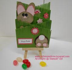 Easter Bunny Cascading Card