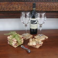 Wine Cork Coasters with step by step directions