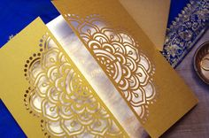 Red Marigold: Mandala Invitation Set