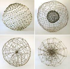 anna hepler   wire spheres / Sacred Geometry ♥