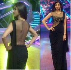 Shipla shetty in black backless