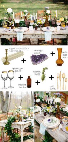 How to style a boho tablescape (midsummer boho) | SouthBound Bride www.southboundbride.com Credit: Scott Clark Photo