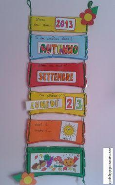 maestra Nella: Il calendario Crafts To Make, Crafts For Kids, Diy Crafts, Montessori Activities, Activities For Kids, Classroom Organization, Classroom Decor, School Labels, School Routines