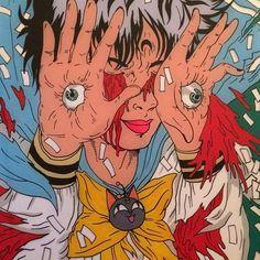T. Lugo Comic Page, Tag Art, Japanese Pop Art, Surrealism, Story Drawing, Composition Design, Ero Guro, Cool Art, Marker Art