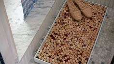 Make a Better Shower Mat Out of Wine Corks