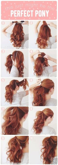 13. The #Perfect Pony - 17 Gorgeous #Hairstyles for Lazy Girls ... → Hair #Fellow