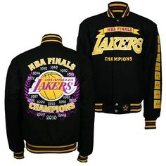d22c82ac8 Los Angeles Lakers J.H. Design NBA Commemorative Jacket (Gold) Team  Apparel