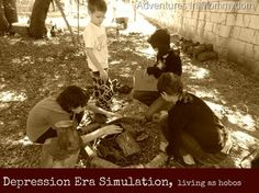 This is PERFECT for Kit! Depression Era simulation living as hobos