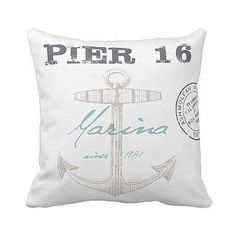 Pillow Cover Marina Pier 16