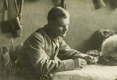 Punakaartin rintamapäällikkö Heikki Kaljunen (1893-1938). Terijoen punakaartin esikunnassa 1918. Art, History, Craft Art, Kunst