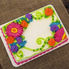Enjoy your shopping experience when you visit our supermarket. Sheet Cake Designs, Cupcake Cakes, Cupcakes, Sheet Cakes, Bakery Cakes, Birthday Design, Harp, Pretty Cakes, Cake Ideas