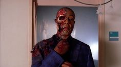 Gus Fring~Cause of death: blown up by Hector.  Just when you think the show can't get any more insane ... ding! boom! Walt's brilliant plan began with poisoning an innocent boy, continued with making an unlikely alliance with Hector and culminated with the old man blowing up Gus with a bomb rigged to explode when he rang the bell on his wheelchair. Sure, Walter technically bombed a nursing home -- but we'll let this one slide. It was awesome.