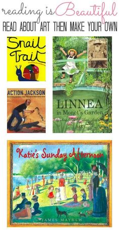 Reading Is Beautiful Get tips for bringing books to life with these simple art projects and matching books, and deepen the reading experience for your child. Art Books For Kids, Childrens Books, Art For Kids, Kid Books, Kindergarten Art, Preschool Art, Montessori, Easy Art Projects, Art Lessons Elementary