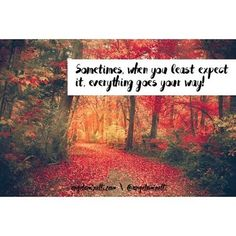Sometimes, when you least expect it, everything goes your way!