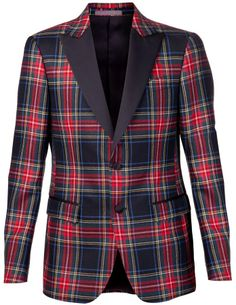 Moschino plaid tuxedo on shopstyle.com