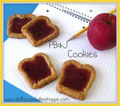 PB & J COOKIES (RECIPE): How frickin' adorable are these?