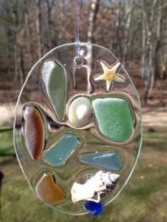 Glass Christmas Ornament Seaglass by WavesSeaGlassDesigns on Etsy, $14.00