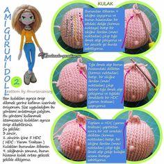 Амигуруми. Куколка Модница крючком (11)