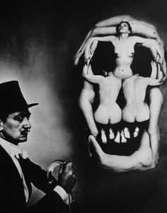 human skull consisting of seven women's bodies which was created in a collaboration between Salvador Dali and photographer Philippe Halsman in 1951.