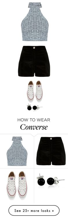 """""""Untitled #2756"""" by twerkinonmaz on Polyvore featuring River Island, Converse and Bling Jewelry"""