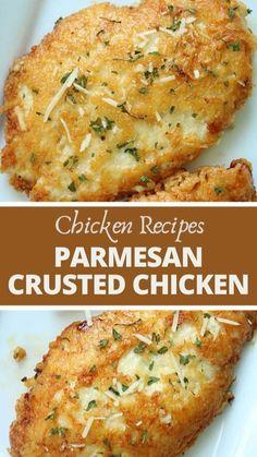 Parmesan Crusted Chicken, Chicken Parmesan Recipes, Easy Chicken Recipes, Easy Chicken Dishes, Chicken Breats Recipes, Best Baked Chicken Recipe, Easy Baked Chicken, Chicken Breast Recipes Healthy, Easy Chicken Tenderloin Recipes
