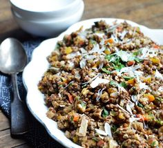 From The Kitchn -- Lunch Recipe: Colorful Lentil Salad with Walnuts & Herbs.  Photo by Faith Durand
